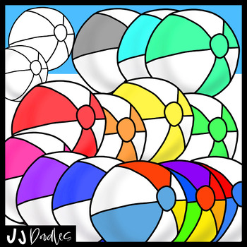 Beach Ball Clipart | Clip art, Art images, Coloring pages