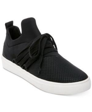 0a345316f95 Steve Madden Women s Lancer Athletic Sneakers - Black 10M