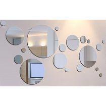 Kit 20 espejos redondos circulares ba o living for Espejos circulares decorativos