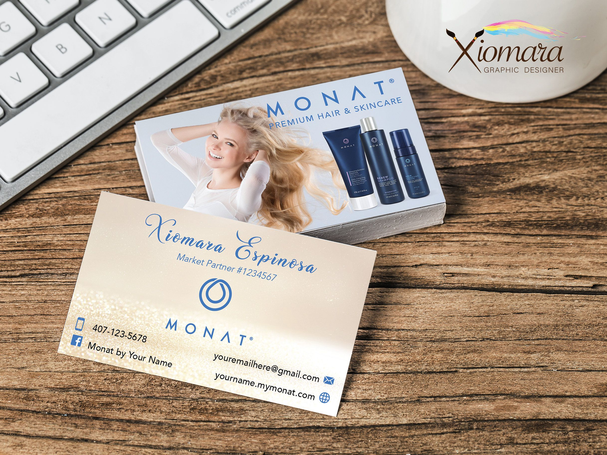 MONAT Business Cards Etsy in 2020 Printable business