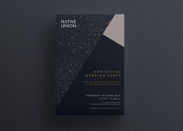 Native Union New Office Opening Party Invite On Behance Office Opening Party Corporate Party Invitation Party Invite Design