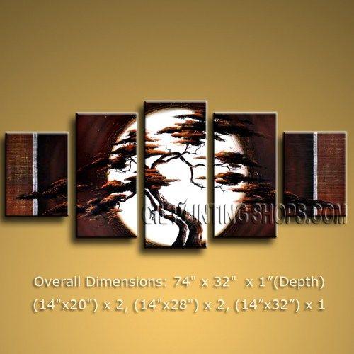 Primitive HUGE Multiple Panels Canvas Wall Art Contemporary ...
