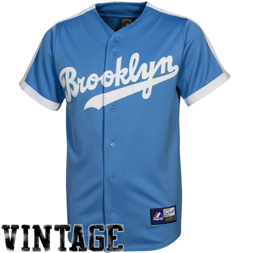 Majestic Brooklyn Dodgers Cooperstown Throwback Jersey Light Blue Dodgers Jersey Dodgers Jerseys