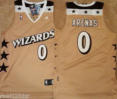 bfd20c98c8e ... Gilbert arenas washington wizards gold swingman mens sewn jersey 3xl 0  nwt ...