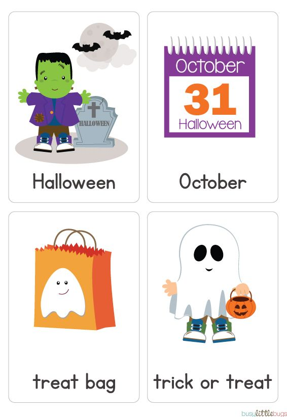 Cutest Halloween vocab/flash cards ever! Énglish learning - vocab cards