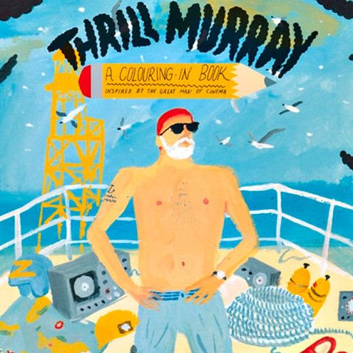 Bill Murray Coloring Book The Awesomer
