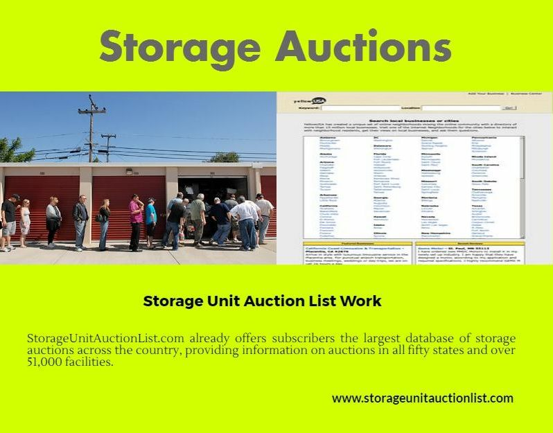Explore Storage Unit Auctions Estate Auctionore