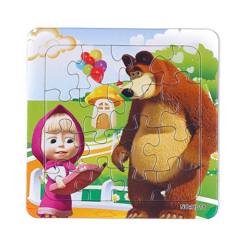 Di Carta 3D jigsaw puzzle per bambini giocattoli per bambini brinquedos Masha e Orso Principessa giocattoli per bambini giocattoli per Bambini educativi Puzles