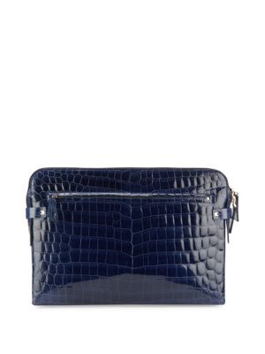 Valentino Garavani Crocodile Embossed Leather Wallet In Na Modesens Leather Embossed Leather Leather Wallet