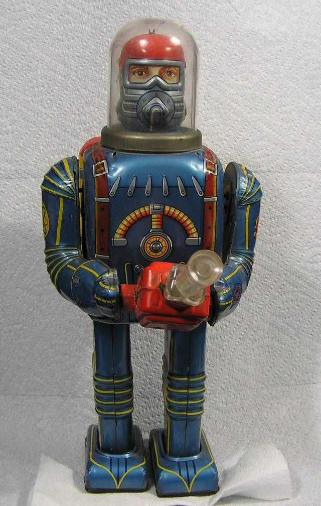 Vintage Space Toys : Vintage s daiya space age robot astronaut battery