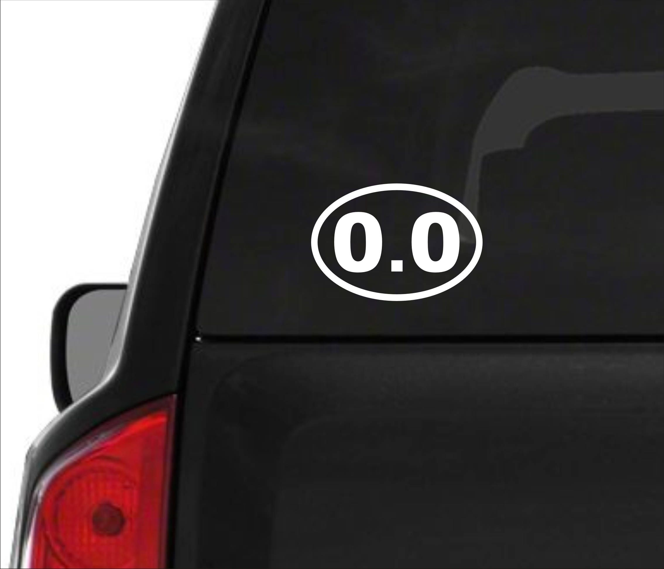 Excited to share this item from my #etsy shop: 0.0 miles decal, mileage decal, runner's decal, 0.0 miles sticker, 0.0 marathon decal, 0.0 sticker, 0.0 miles runner, zero miles decal