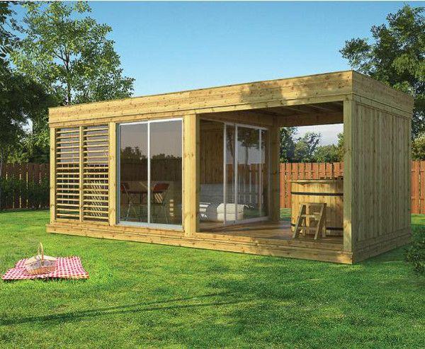 garden cube, casa in legno
