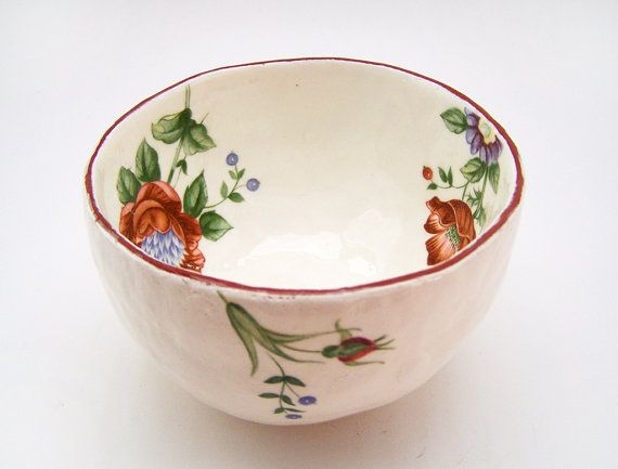 Decorative Ceramic Bowls Decorative Ceramic Bowl  Pottery Bowl  Jewellery Bowl  Vintage