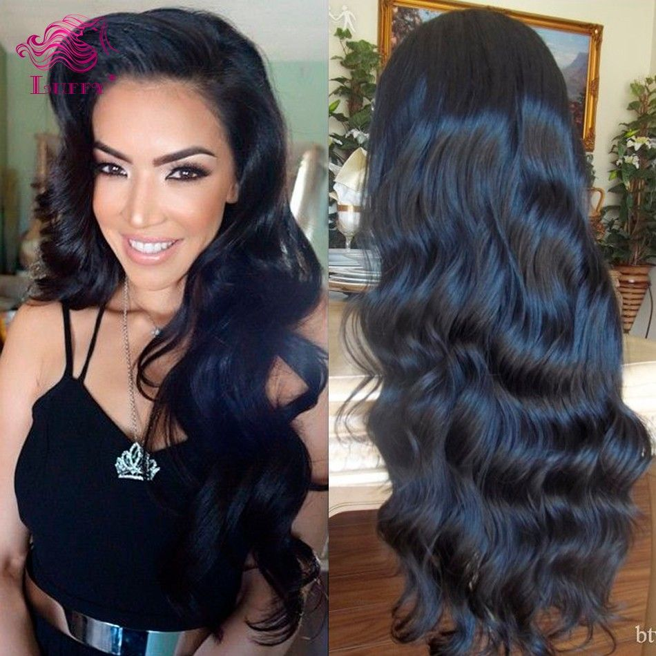Glueless Full Lace Human Hair Wigs Wavy Front Unprocessed Virgin Brazilian Water Wave For