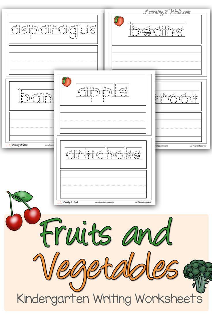 Fruits and Vegetables Kindergarten Writing Worksheets | Writing ...