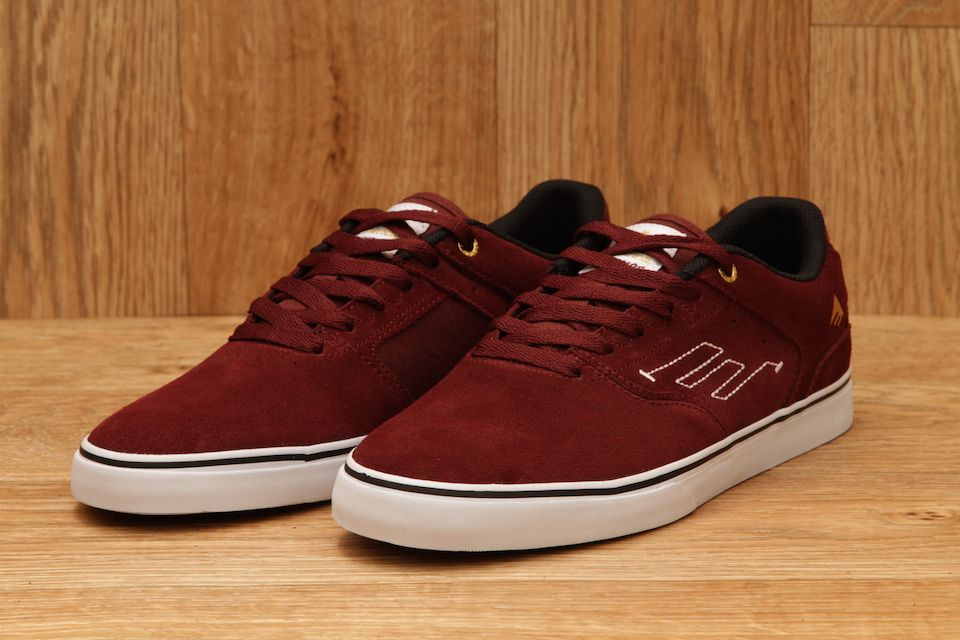 edcf52da81b63f EMERICA REYNOLDS LOW VULC BURGUNDY   WHITE £49.95
