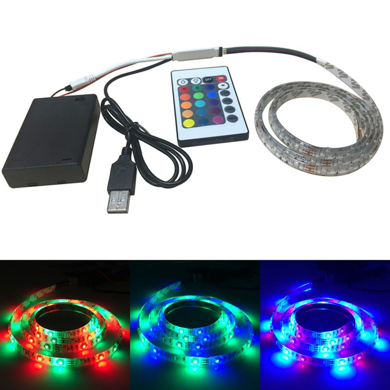 Find more led strips information about 1m 60leds rgb led light strip find more led strips information about 1m 60leds rgb led light strip battery poweredrgb aloadofball