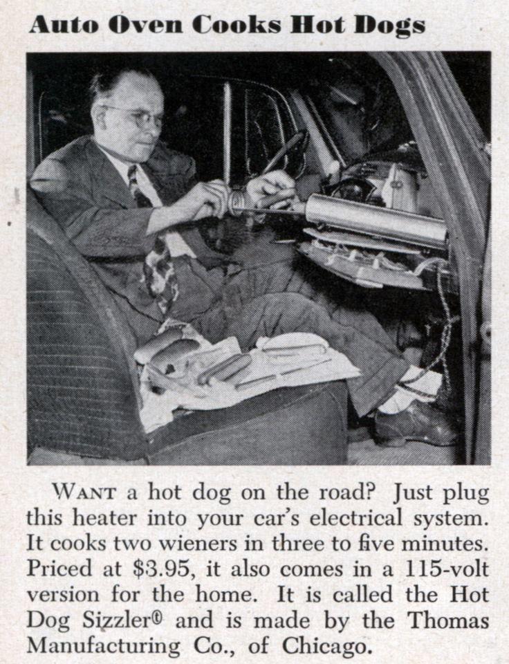 Car Hot Dog Cooker Hot Dogs Hot Vintage Ads