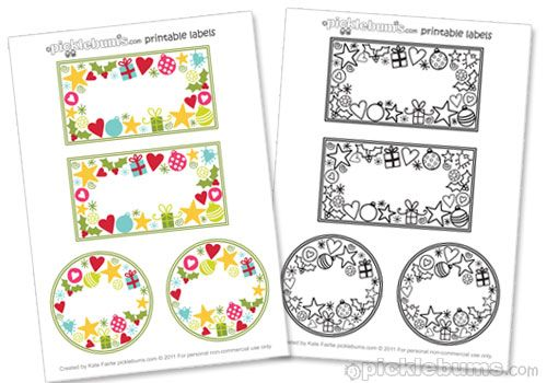 Christmas Jar Labels Free Printable From Picklebums Com One Version Coloured And Read To Free Christmas Tags Free Christmas Printables Labels Printables Free