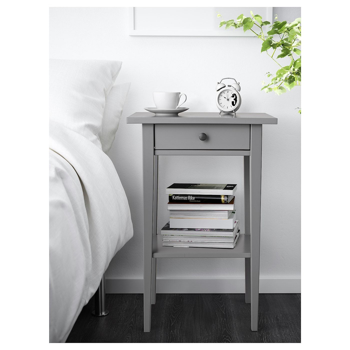 Ikea Table De Nuit hemnes table de chevet - gris 46x35 cm en 2020 | table de