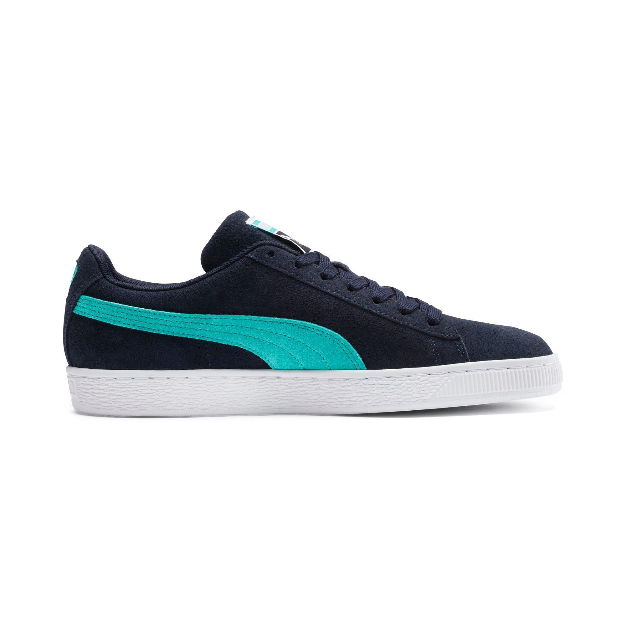 montar raro constante  PUMA Suede Classic Trainers in Peacoat/Blue Turquoise/White size 3.5 |  Chaussure puma, Chaussure sport, Chaussure
