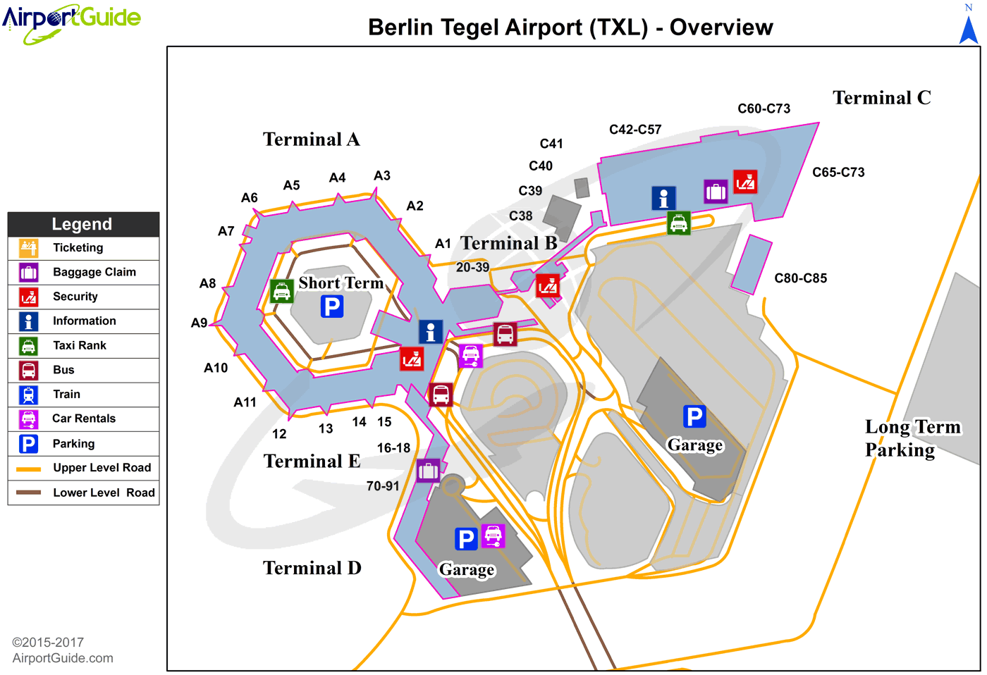 Berlin BerlinTegel International (TXL) Airport Terminal