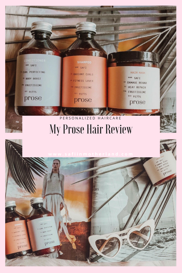 Prose Hair Review Paraben free products, Hair care