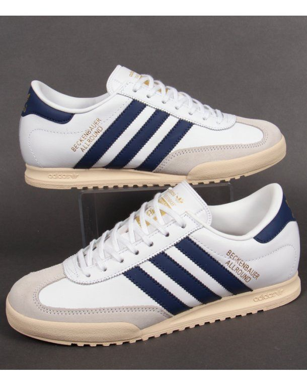 finest selection 18851 36c9c Adidas Beckenbauer Trainers White navy gold
