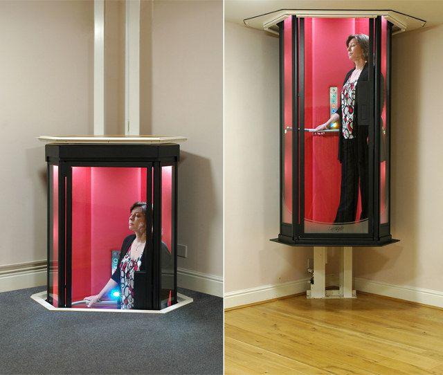 Making an entrance 39 star trek 39 personal home elevator - Elevadores domesticos ...