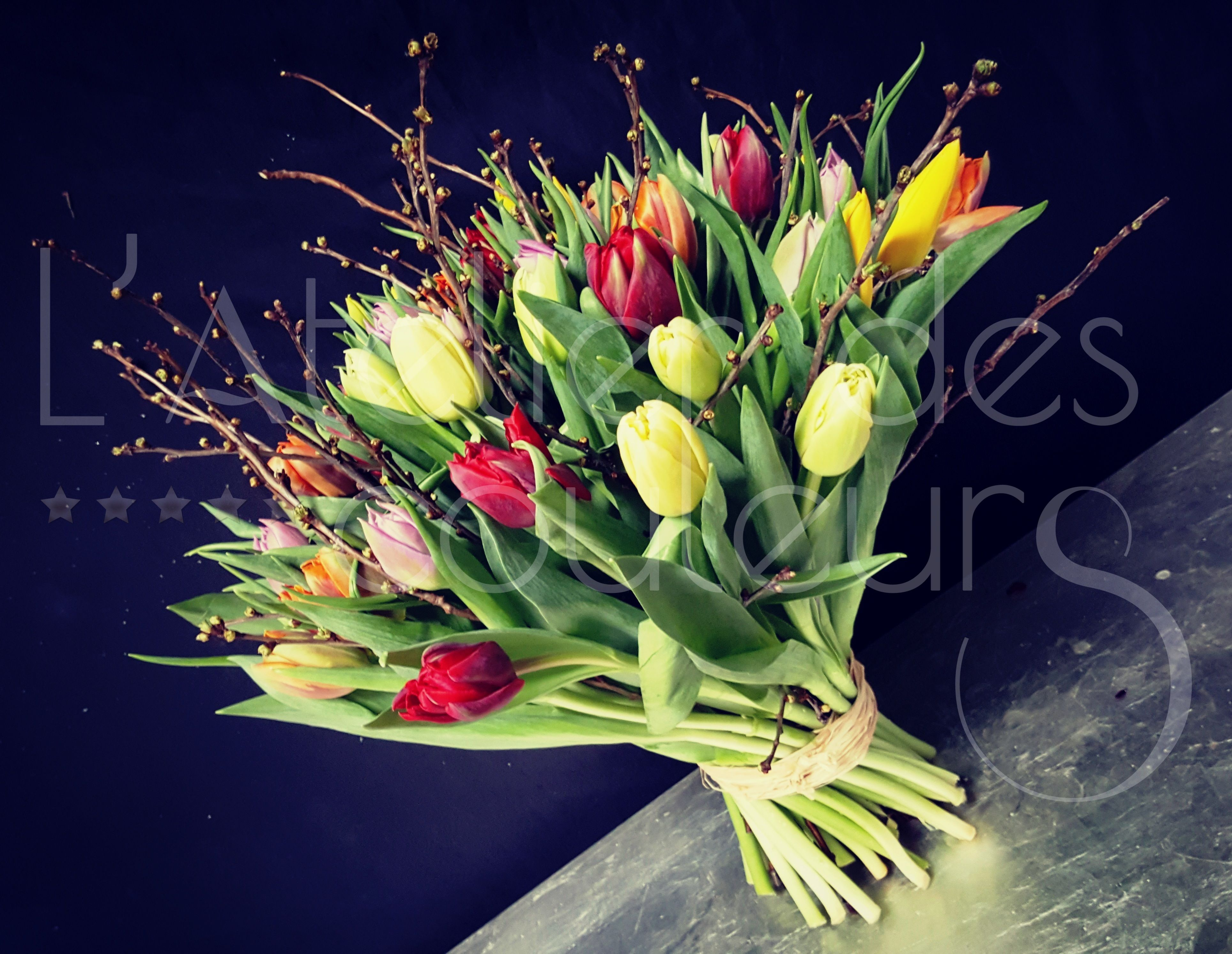 Beautiful Colorful Tulip Bouquet Tulip Bouquet Tulips Flowers For You