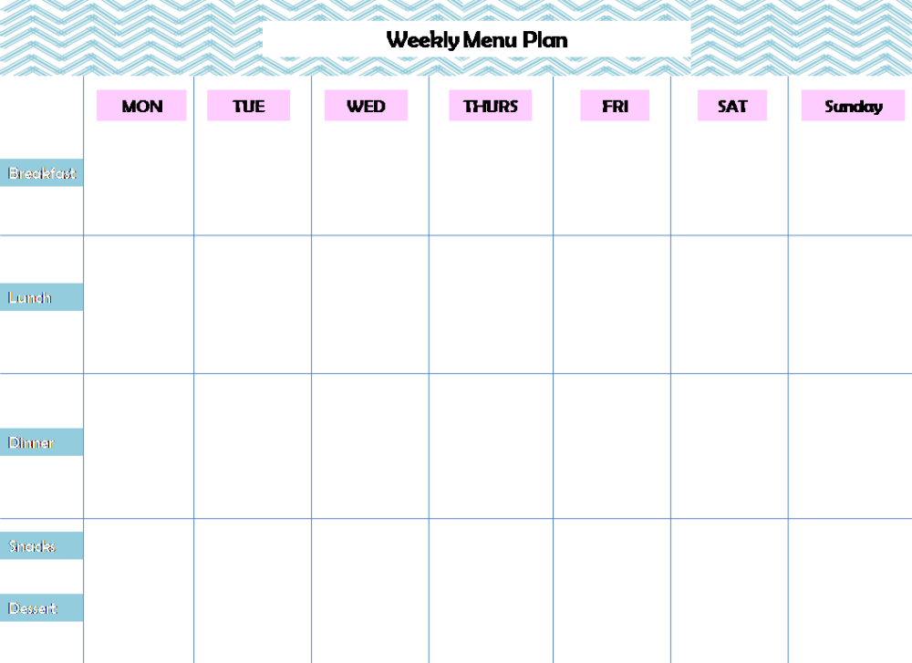 Free Printable Monthly Meal Planner Word Plan Beautiful Template With 7 Day Menu Plan Meal Planner Template Weekly Meal Planner Template Menu Planning Template