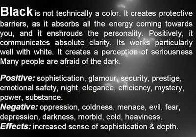 Meaning Of The Color Black Color Psychology Color Meanings Psychology