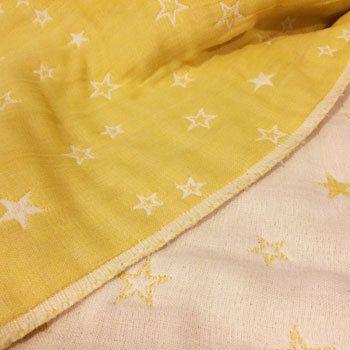 Mustard Yellow Star Baby Blanket Star Baby Blanket Gauze Blanket Baby Blanket