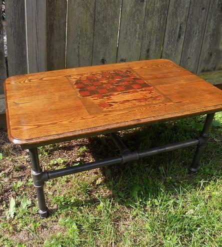 Vintage Checkerboard Coffee Table
