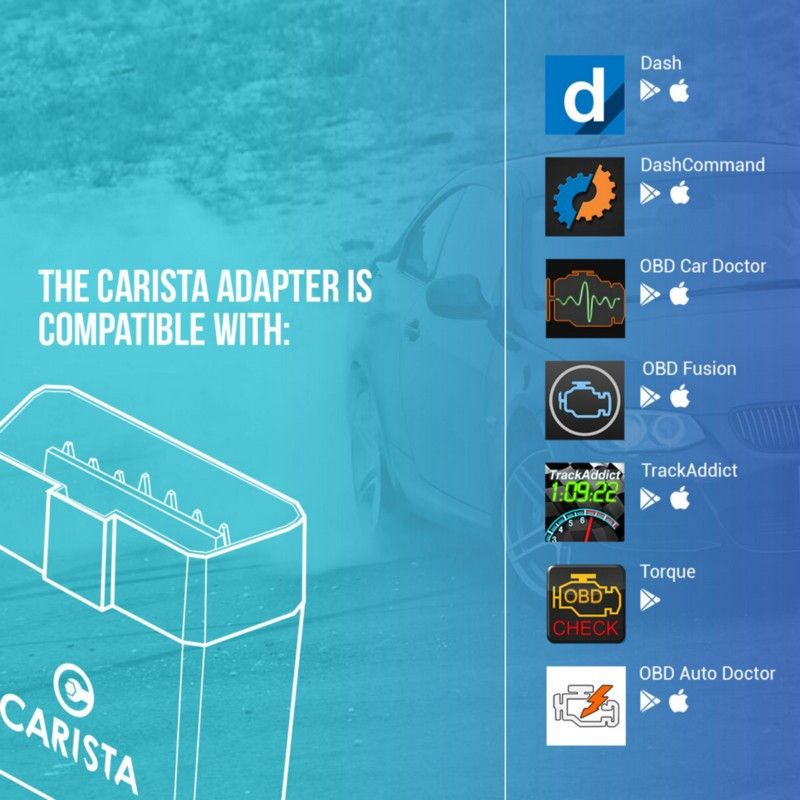 Connecting to the Carista OBD2 adapter on Android and iOS