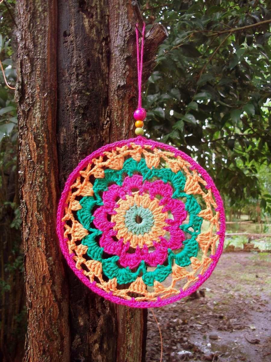 Mandalas Tejidas Al Crochet 40 00 En Mercadolibre