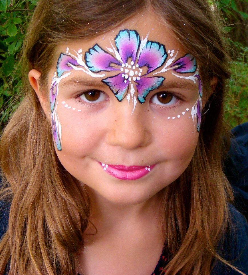 Flower mask face painting | Face painting flowers, Face ...
