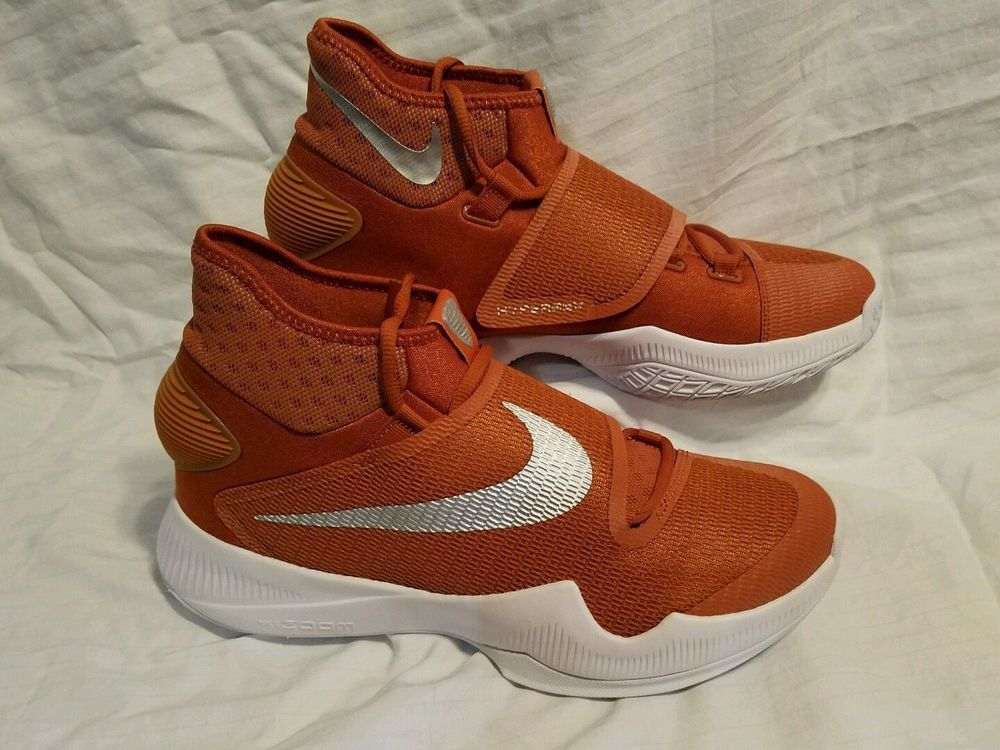 online retailer 23748 2d142 Men s Nike Zoom Hyperrev 2016 TB Burnt Orange Texas Longhorns Basketball  Size 15  Nike  BasketballShoes