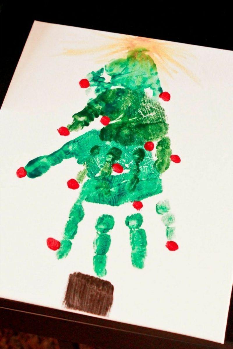 Weihnachtsbilder Zum Basteln.Basteln Mit Handabdruck Weihnachten Inspirierende Ideen