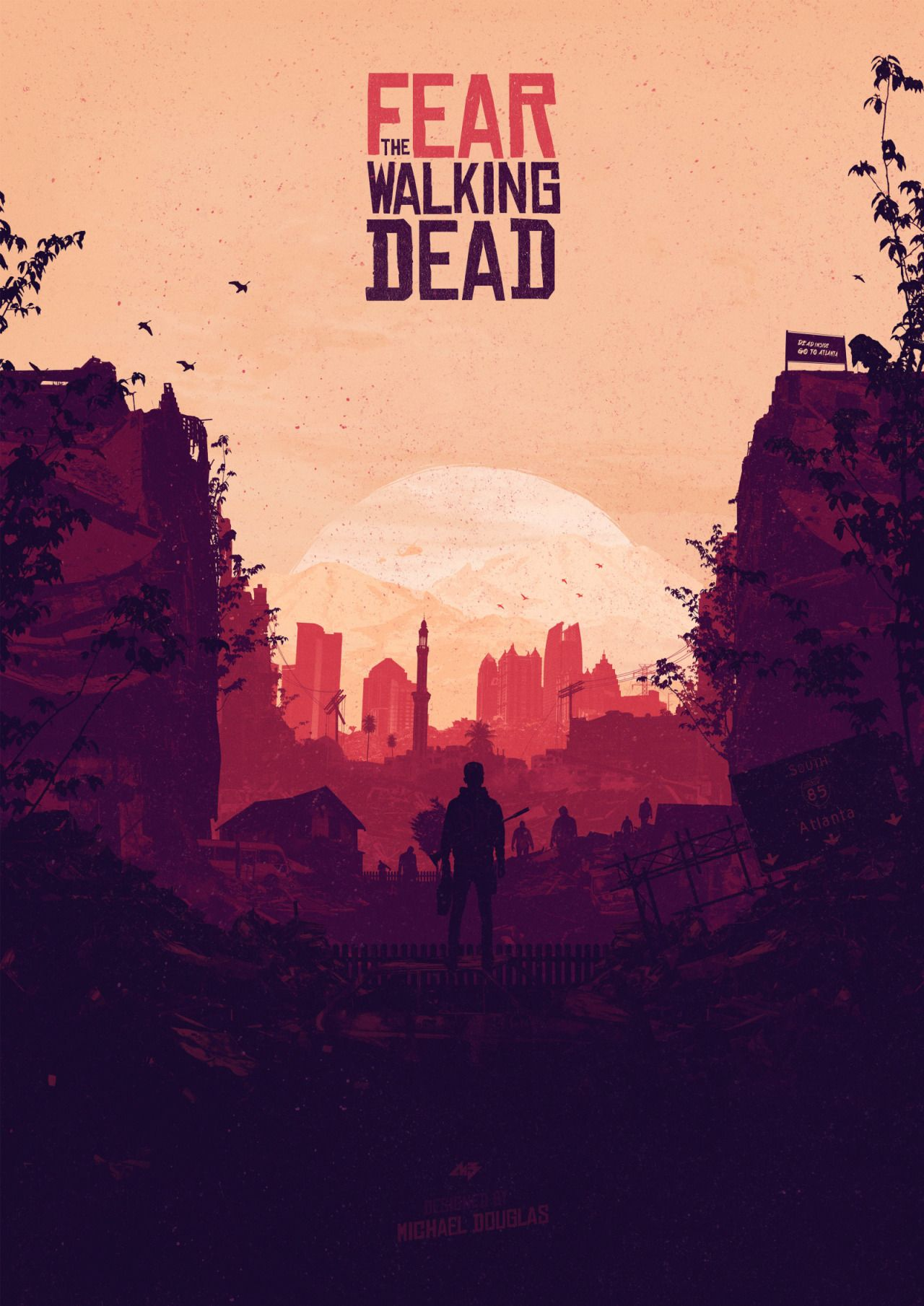 Fear The Walking Dead Poster Created By Michael Douglas