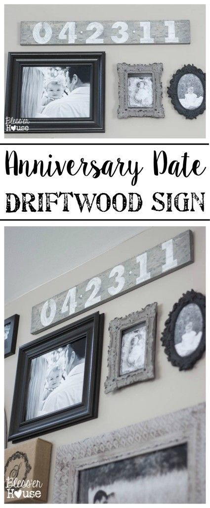 Anniversary Date Driftwood Sign   Driftwood signs, Driftwood and ...