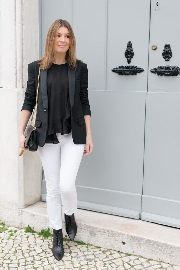 Blogger Style | The Working Girl: black skoming blazer x black top ...