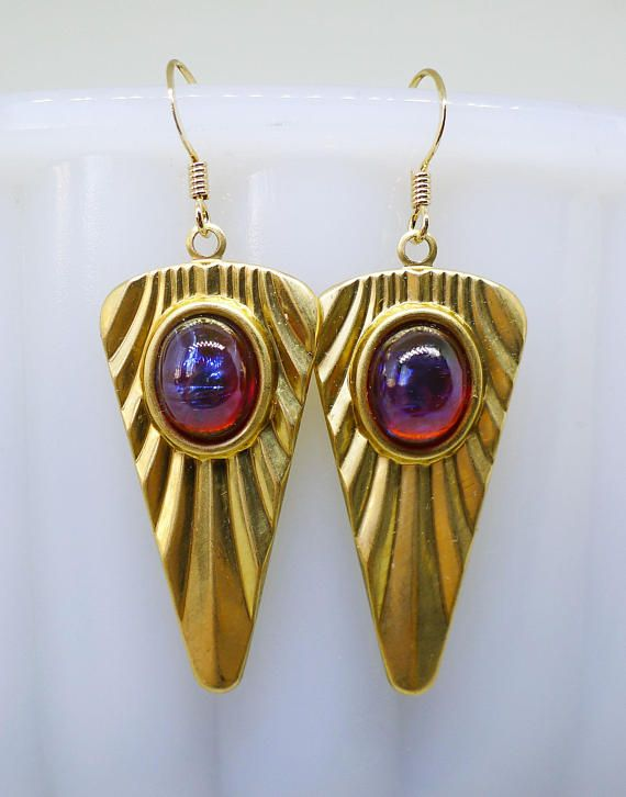 Dragon Fire // Art Deco Statement Earrings with 1950s Vintage