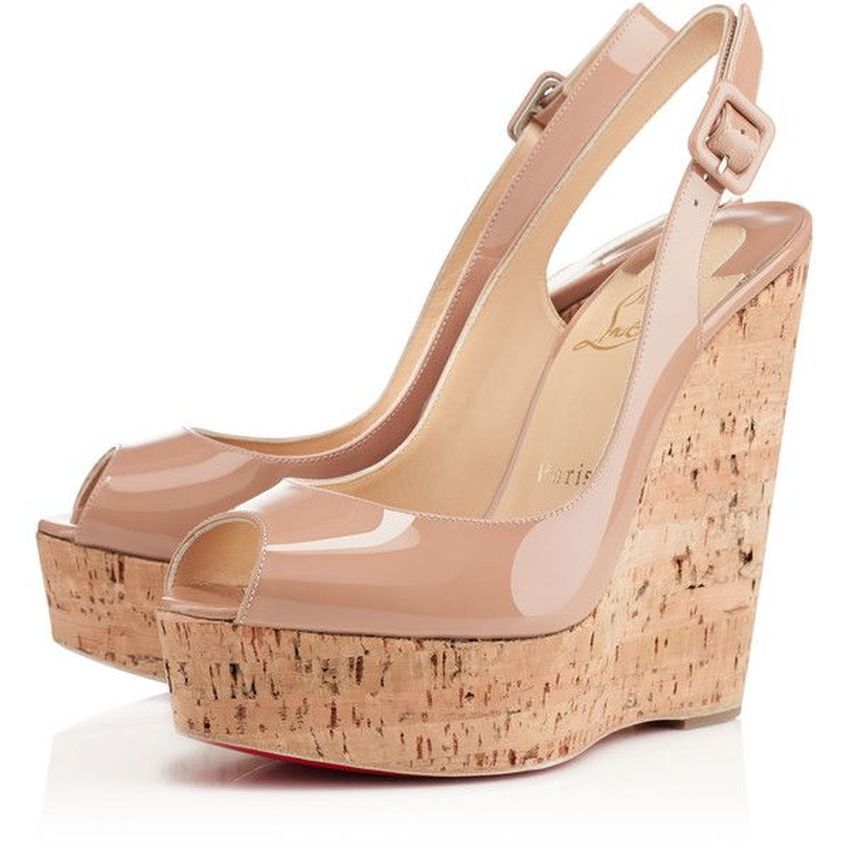 ef82b505eb65 greece lyst christian louboutin patent leather t strap cork wedge sandals  0e3f8 20071  coupon christian nude wedgesnude heelslouboutin 9343d 9610b