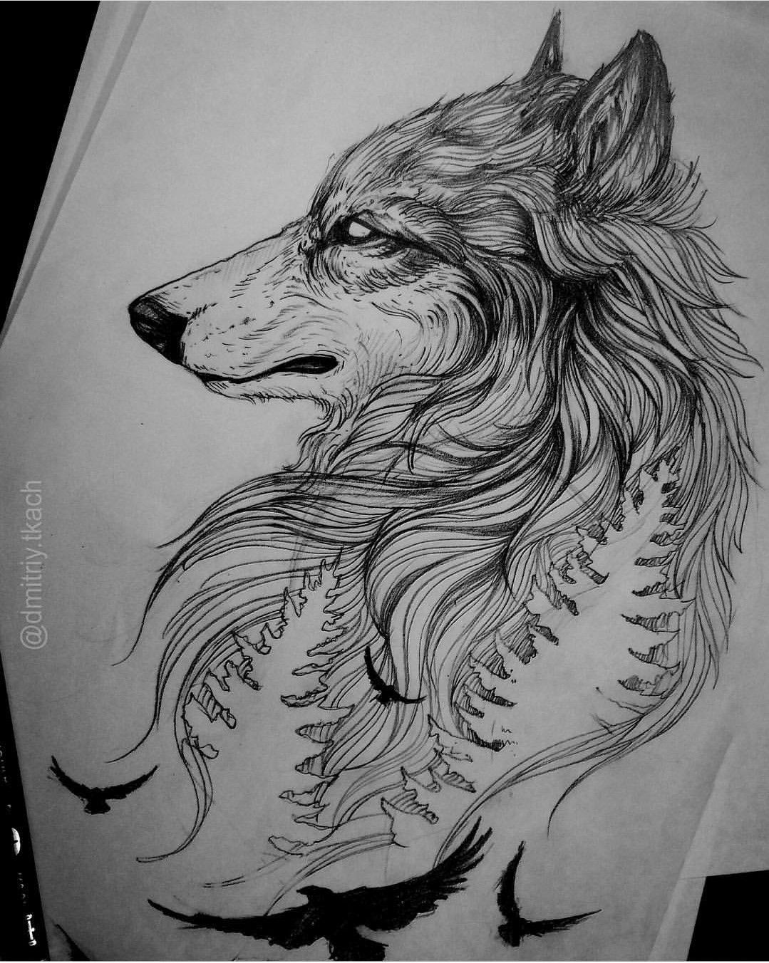 Pin De Emanuel Mdfk En Tatuajes Tatuajes De Lobos Esbozo De