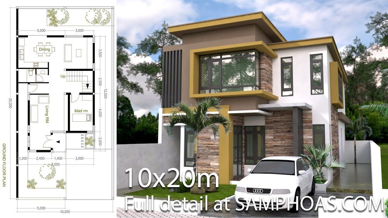 Sketchup Modern Home Plan Size 8x12m With 3 Bedroom Youtube In 2020 Architectural House Plans Modern House Plans Home Design Plan