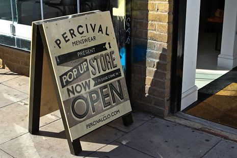 Typography at shop entrance