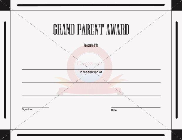 grand parent award general template templates pinterest template