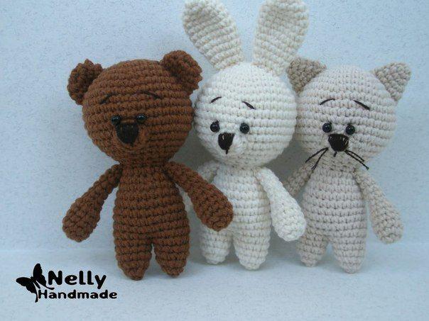 Amigurumi pequeño gato, Bunny y el patrón del oso-Libre - Patrones ...