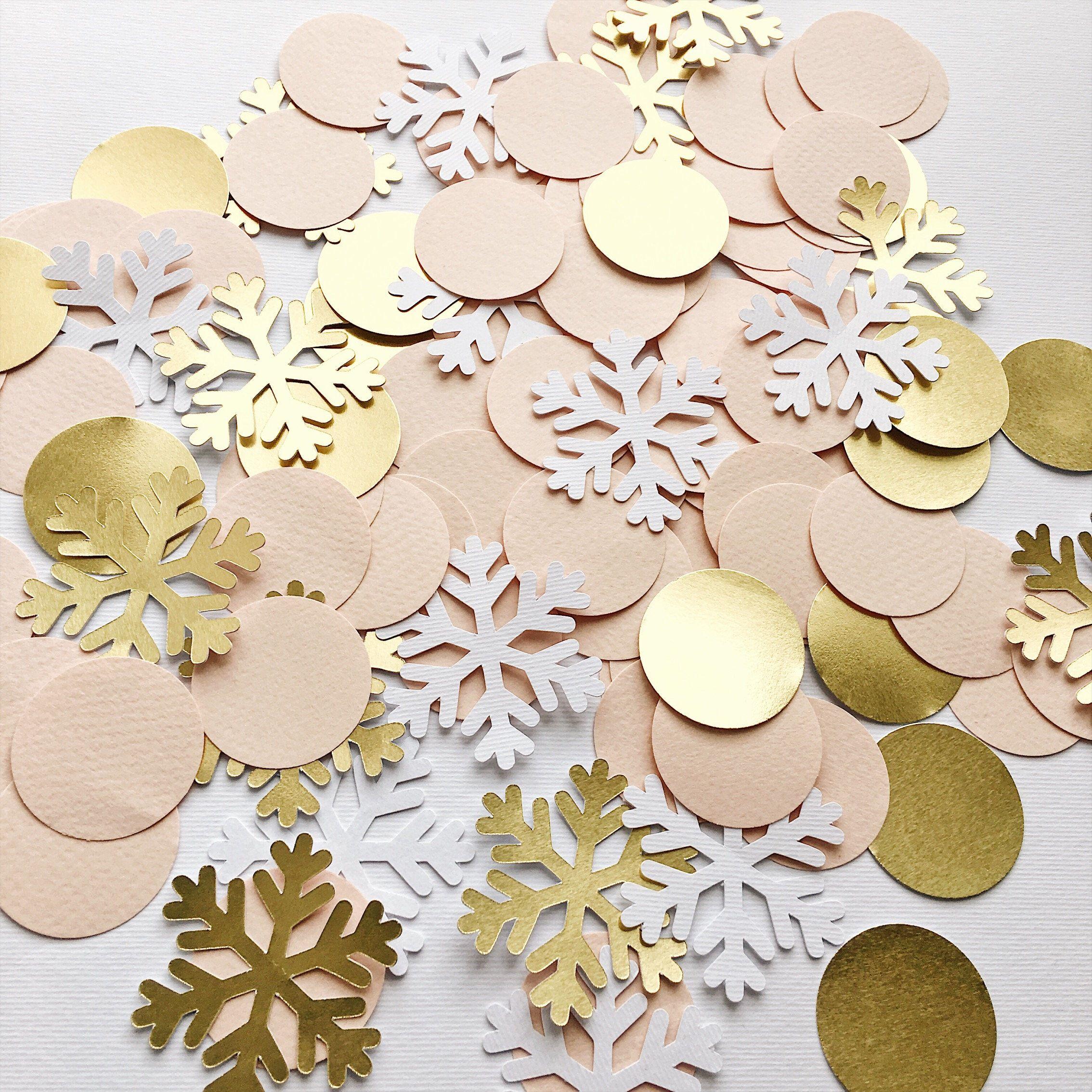 Christmas Confetti Winter Wonderland Confetti.Holiday Party Decor.Birthday Party Decor.Christmas Party Decorations, Holiday Paper Confetti